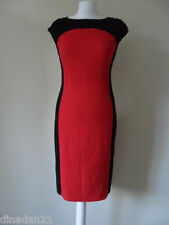Womens Gerard two tone dress, size 10, black/red, knee length, brand new