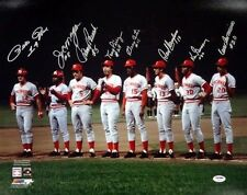 REDS BIG RED MACHINE AUTOGRAPHED SIGNED 16X20 PHOTO 8 SIGS BENCH ROSE PSA/DNA