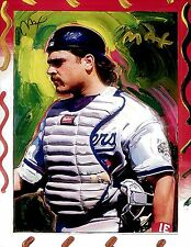 PETER MAX POSTER- MIKE PIAZZA- MAX BASEBALL CARD -12 X 18- FACSIMILE SIGNED-WOW
