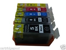 For canon Pixma MP530 MP530R MP600 PGI-5BK CLI-8  ink cartridge 5 pack