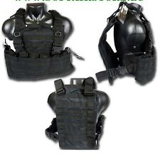 GILET TATTICO SOFTAIR MOLLE WASATCH NERO SWISS ARMS 604034 Vest Tattico Molle