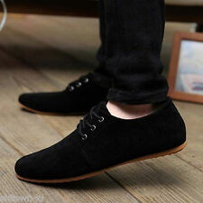 Men's Casual Lace Slip On Loafer Shoes Moccasins Driving Shoes Black US 8