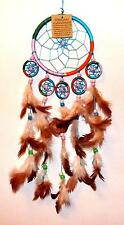 **BEAUTIFUL 11.5cm PASTEL RAINBOW COLOURED 6 WEB DREAMCATCHER**