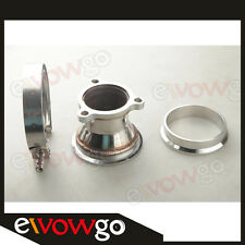 "UNIVERSAL STAINLESS STEEL 2.5"" 3 BOLT TO 3.0'' V-BAND TURBO DOWNPIPE ADAPTER KIT"