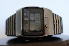 VINTAGE SEIKO 0634-5019 FIRST LCD CHRONOGRAPH MADE BY SEIKO 1976 GREAT CONDITION