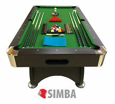 7 Ft Pool Table Billiard Playing Table Game billiards GREEN SEASON Indoor Sports