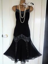 Beaded 1920's flapper style dress UK 16 US 12 EU 44 Great Gatsby Downton Abbey
