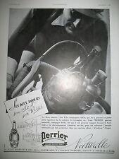 PUBLICITE DE PRESSE PERRIER EAU GAZEUSE CYCLISTE DEUX AMOURS FRENCH AD 1937