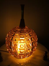 Vintage Czech Art Deco Glass Lamp Light Globe Shade Retro Amber