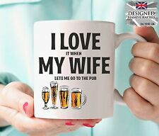 Funny Personalised Love My WIFE PUB Birthday Gift Christmas Gift Idea Present