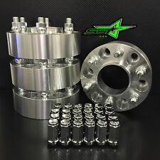 4 WHEEL SPACERS 6X135 1.5 INCH HUB CENTRIC FORD RAPTOR F150 + 24 BULGE LUG NUTS
