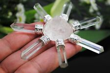 674 ~ BRILLIANT! 7 POINT CRYSTAL QUARTZ PYRAMID ENERGY GENERATOR ~ HEALING POINT
