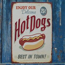 Collectibles HotDogs BEST Signs Retro Metal Tin Signs Fast Food Store Wall Decor