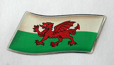 45mm WAVING WALES FLAG Sticker/Decal - WITH A HIGH GLOSS DOMED GEL FINISH