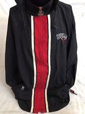 Chicago Bulls Starter Windbreaker Jacket Vtg 90s Jordan Full Zip Hood Mens Sz L