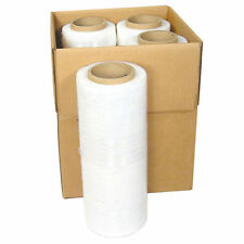 "18"" x 1000FT 80 Gauge Pallet Wrap Stretch Film Shrink Hand Wrap 1000' 4 Rolls"