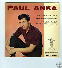 45 RPM EP PAUL ANKA IT'S TIME TO CRY
