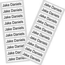 25 Iron On School Name Labels Tags Printed Waterproof uniform personalised tapes