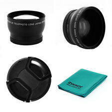 52mm 0.45x LENS + 2x telephoto + CAP + CLOTH for Fujifilm E550 E900 52mm, CAMERA