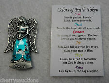 p TRUST in Lord with all heart cross COLORS OF FAITH POCKET TOKEN ANGEL charm