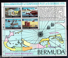 "Bermuda - ""SHIPS ~ MAP ~ 200th ANN OF GUNPOWDER PLOT"" MNH Mini Sheet MS 1975"