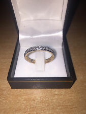 Beautiful 15pt Diamond Full Eternity Ring 9ct Yellow Gold Size N Brand New