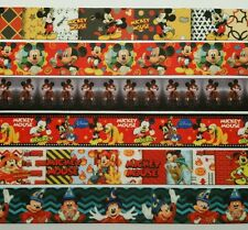 """6  Yds  1"""" Mixed Lot Mickey Mouse Inspired  Grosgrain Ribbon 1 Yard Each"""