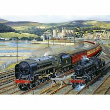 GIBSONS GATEWAY TO SNOWDONIA 1000 PIECE JIGSAW PUZZLE - BARRY FREEMAN - TRAINS