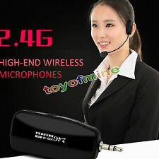 2.4G Wireless Microphone Speech Headset Megaphone RadioMic For Loudspeaker Teach