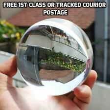 80mm Glass Crystal Paper Weight Clear Sphere Natural Quartz Ball Magnifying