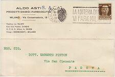 MILANO - PRODOTTI CHIMICI FARMACEUTICI - ALDO ASTI 1935