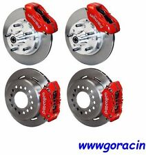 "WILWOOD DISC BRAKE KIT,1971-1974 AMC JAVELIN,11"" ROTORS,RED CALIPERS,American"