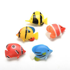 5Pcs Artificial Tropical Fish Floating Moveable Aquarium Fish Tank  Toy AU23