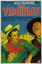 THE VIRGINIAN Movie POSTER 27x40 Gary Cooper