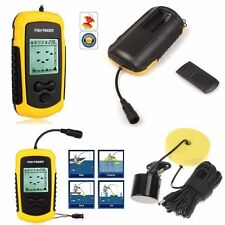 New Portable Sonar Sensor Fish Finder Alarm 100M Depth Capturing Transducer