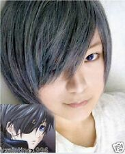 Hot sell! Black Butler Ciel Phantomhive Blue Gray Short cosplay wig