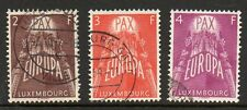 Luxembourg 1957 Europa fine used set stamps
