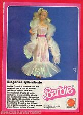 Pubblicità Advertising MATTEL BARBIE Crystal 1984
