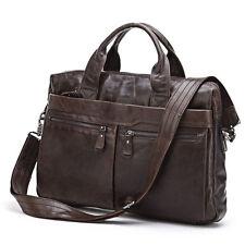 Vintage genuine leather man messenger bag men briefcase laptop shoulder bag 7122