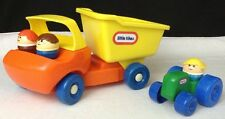 Vintage 80's Little Tikes Toddle Tots Dump Truck & Tractor w/ Chunky People