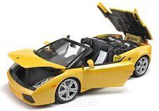 BBurago 1:18 Gold Lamborghini Gallardo Spyder - Yellow Ref 18 - 12016