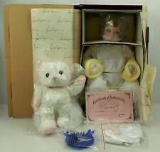 "FayZah Spanos 20"" TOOTSIE CUTSIE Baby & Bear Ballet Shoes Outfit Porcelain Doll"