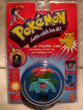 Pokemon Venusaur Collector Rotating Marble Case w/ Marbles Toy Biz 2000 *MINT*