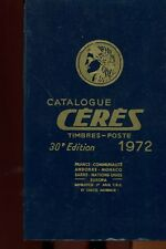 TIMBRES CATALOGUE CERES 1972 FRANCE ANDORRE MONACO NATIONS UNIES
