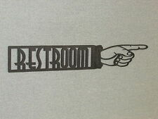 """Large 24"""" RESTROOM RIGHT POINTING FINGER Laser Cutout Wall SIGN"""