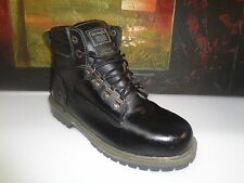 Vintage Wrangler Work Steel-toe Boot Men size 9.5D Black Leather