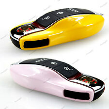 Car Remote FOB Key Side Casing Cover Replacement Metallic Color for Porsche Pink