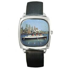 RMS QUEEN MARY (1) CUNARD NEW YORK 1960'S SQUARE WRISTWATCH **LATEST ITEM**