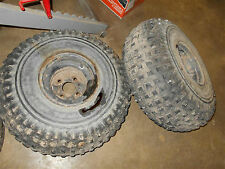 yamaha yfm250 moto 4 rear rims wheels tires pro hauler back yfm350er 350 89 1991