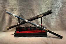 "Hand Forge High Quality Chinese Sword""Han Jian""(劍) Folded Pattern Steel Blade"